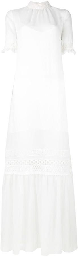 McQ Lace Detail Full Length Dress