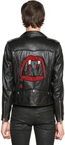 Saint Laurent Blood Luster Leather Biker Jacket