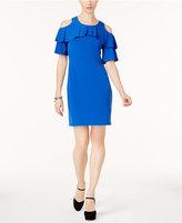 Michael Kors Cold-Shoulder Ruffled Dress