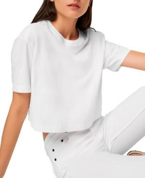 French Connection Sahanna Cotton Cropped T-Shirt