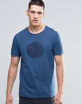 Pretty Green T-shirt With Applique Logo In Slim Fit Navy