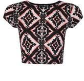 Select Fashion Fashion Womens Orange Aztec Tribal Crop - size 14