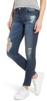 BP Women's Tuxedo Stripe Ripped Skinny Jeans