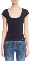 Versace Women's Ruched Knit Tee