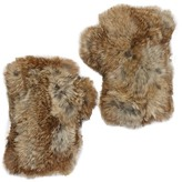 Surell Genuine Rabbit Fur Fingerless \nGloves
