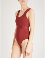 Ivy Park Plunge Pintuck stretch-jersey body