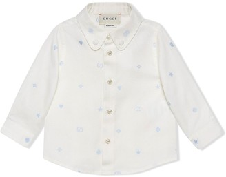 Gucci Kids embroidered Oxford shirt