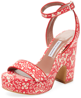 Tabitha Simmons Calla Printed Leather Platform Sandal