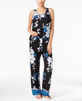 Alfani Contrast-Trimmed Knit Tank Top and Pants Pajama Set, Only at Macy's