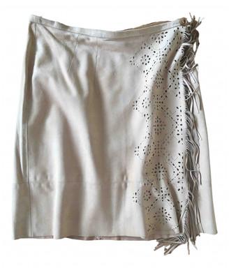 Iris von Arnim Beige Suede Skirt for Women