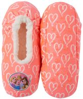 Disney Princess Girls 4-16 Rapunzel, Cinderella & Belle Fleece-Lined Slippers