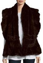 Saks Fifth Avenue Mink Shawl with Pockets