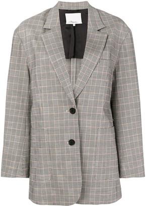 3.1 Phillip Lim Oversized Wool Checked Blazer