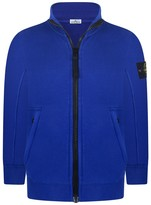 Stone Island Boys Blue Zip Up Top