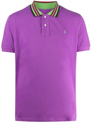 Vivienne Westwood Stripe-Trim Cotton Polo Shirt