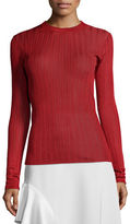 DKNY Long-Sleeve Striped Jersey Top