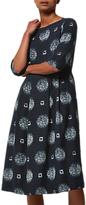 Toast Franca Print Dress, Navy/Ecru