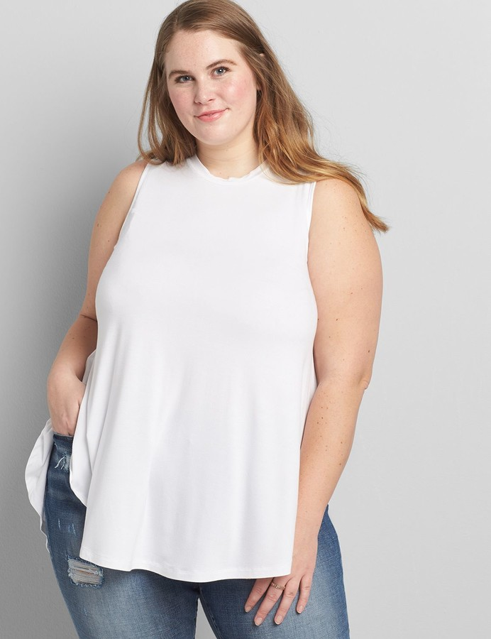 Thumbnail for your product : Lane Bryant Max Swing Tunic Tank