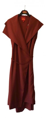 Vivienne Westwood Red Wool Dress for Women