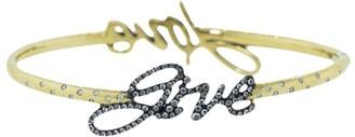 Fred Leighton 18kt yellow gold Give Love diamond bangle