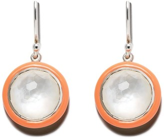 Ippolita Sterling silver and orange ceramic Lollipop Carnevale single drop earrings