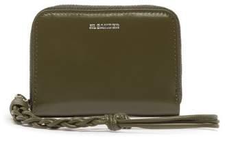 Jil Sander Braided-pull Leather Wallet - Womens - Khaki