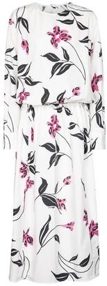 Marni Floral cotton poplin midi dress