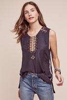 Burning Torch Golden Circle Embroidered Tank