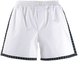 Dolce & Gabbana Poplin Elasticated Mini Shorts