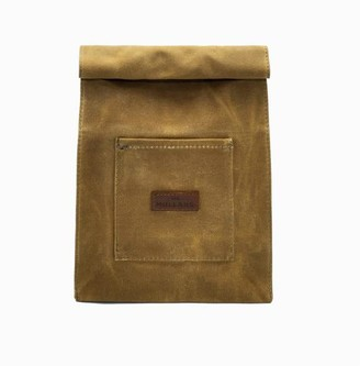 Cotton Canvas Wash Bag With Leather Logo