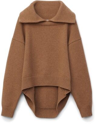 Alexander Wang Drape Back Wool & Cashmere Sweater