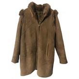 BEIGE Shearling Shearling Coats