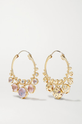 Alice Cicolini Bubble Kimono 14-karat Gold Multi-stone Earrings - one size