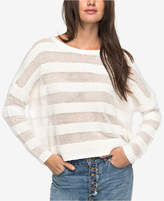 Roxy Juniors' Cotton Shadow-Stripe Sweater