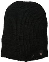 Dickies Men's Reversible Stripe Black Grey Slouch Beanie