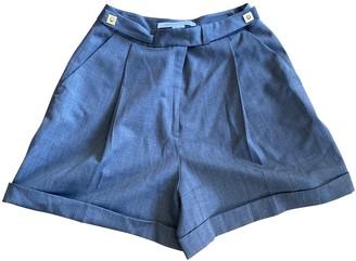 Diane von Furstenberg Grey Wool Shorts