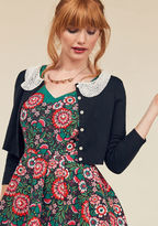 ModCloth Elegant Accents Cardigan in Black in M