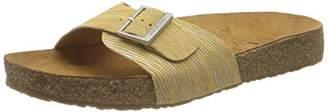Haflinger Unisex Adults' Bio Gina T-Bar Sandals, Yellow (Gelb 1558)