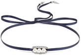 Ben-Amun Silver-tone, crystal and faux pearl choker