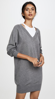 Alexander Wang Bi-Layer Sweater Dress