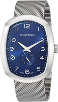 Philip Stein Teslar Men's 'Modern' Swiss Quartz Stainless Steel Casual Watch, Color:Silver-Toned (Model: 72-FBL-MSS)