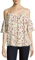 French Connection Women's Anastasia Floral Cold-Shoulder Top