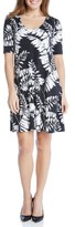 Karen Kane Women's Print Elbow Sleeve Taylor Dress