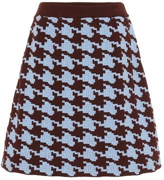Marni Houndstooth wool-blend miniskirt