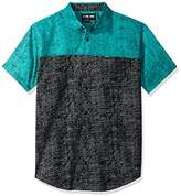 Zoo York Men's Short Sleeve Kick Push Woven