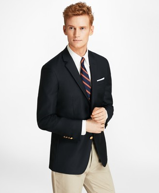 Brooks Brothers Country Club Milano Fit Saxxon Wool Two-Button Blazer