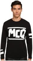 McQ by Alexander McQueen Long Sleeve Logo Crew Neck T-Shirt
