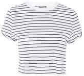 Topshop Stripe cropped t-shirt