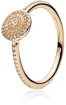 Pandora Ring - 14K Gold & Cubic Zirconia Radiant Elegance