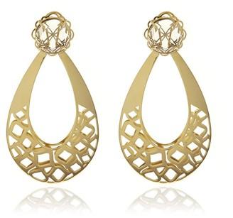 Georgina Jewelry Gold Racines Drop Crystal Earrings